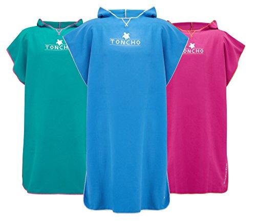 Ultraleichter Handtuch Poncho - Surf Poncho - mikrofaser handtuch - Poncho erwachsene, Kompakt, Absorbierend, Perfekt für den Kleiderwechsel am Strand, im Urlaub, auf Reisen, am Wassersport