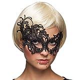 NET TOYS Maschera Veneziana per Donne | Nero | Elegante Maschera Femminile in Pizzo | UnŽattrazione per Balli in Maschera & Carnevale