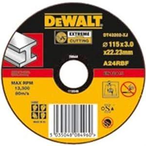 41eA2q%2BlquL. SS300  - Dewalt DT43201-XJ, Disco Abrasivo Extremo para cortar metal plano 115x1,7x22,2 mm, 1 unidad