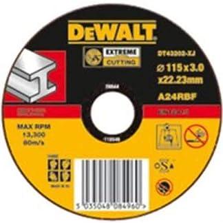 Dewalt DT43201-XJ, Disco Abrasivo Extremo para cortar metal plano 115×1,7×22,2 mm, 1 unidad