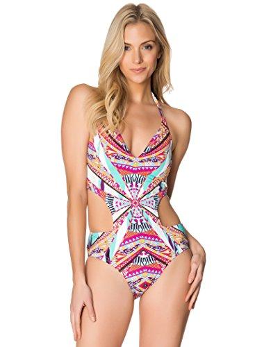 Jessica Simpson Damen Multi-Strap-Einteiler Badeanzug Cool Mint S (Jessica Simpson)