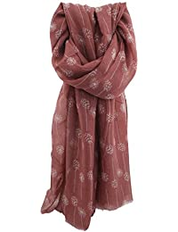 Zest Dandelion Fall Fashion Scarf Dark Pink