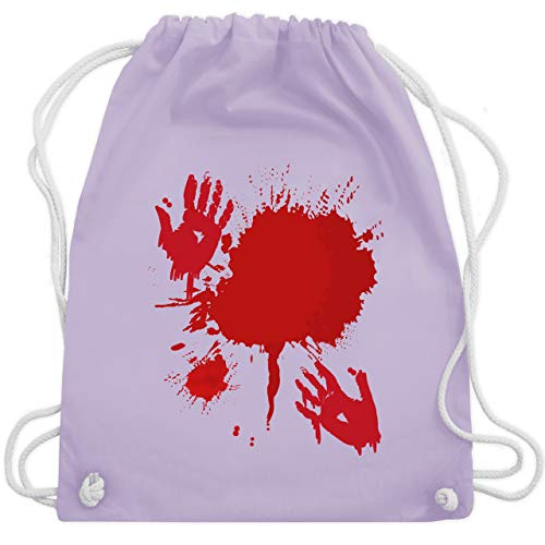 Halloween - Blutig Fasching Kostüm - Unisize - Pastell Lila - WM110 - Turnbeutel & Gym Bag