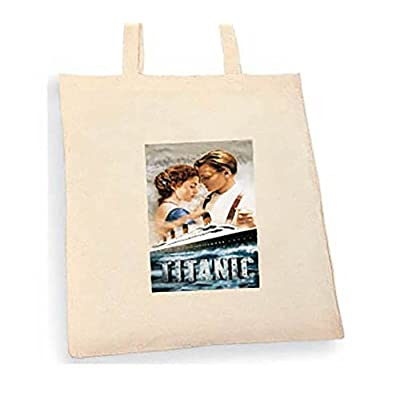 Tianic Tote bag. Beige cotton bag, Cotton Tote Bag, Can be used as a bag for life shopping bag, handbag, fashion bag, school bag, beach bag, shoulder bag. - handmade-bags