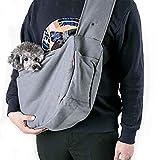 GYZ Tierreisetasche, Reisetasche Transporttasche, tragbare Brusttasche für Haustiere, Aufschluss, Haustier aus Sling (grau, Marineblau) /+-+/ (Farbe : Gray, größe : L)