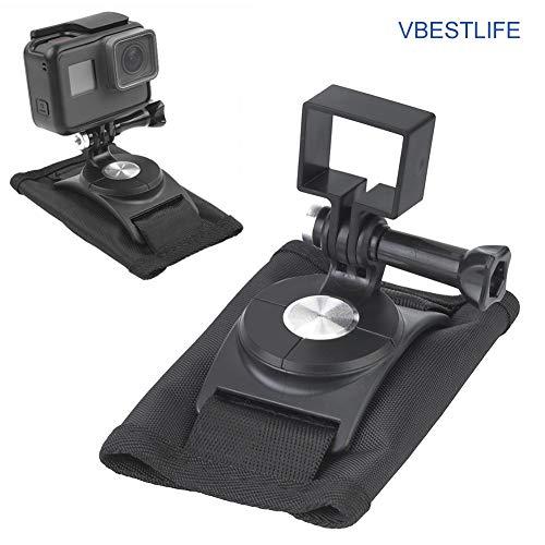 VBESTLIFE 360 ° drehbarer Rucksackclip, Robustes 360-Grad-Schwarz-Rucksackclip-Kit zur Drehung im Freien für OSM- oder Pocket-Kameras.