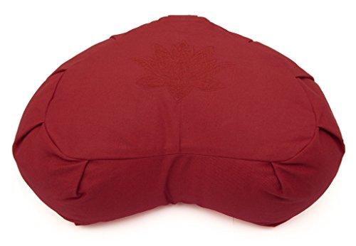 Yoga Studio Buchweizen Crescent Zafu Meditationskissen–Lotus Leaf, burgunderfarben
