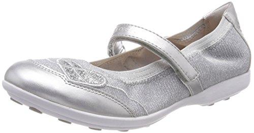 (Geox Mädchen JR Jodie A Geschlossene Ballerinas Silber (Silver) 34 EU)