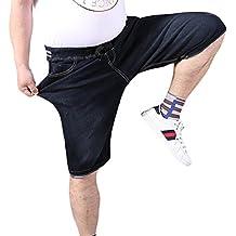 Xinwcang Hombre Jeans Cortos Básicos Slim Fit Stretch Vaqueros Chino Pantalón Corto Bermuda Pantalones Denim Ef6bIC6z
