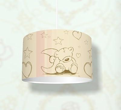 """Kinderzimmer Lampenschirm """"Teddy"""" KL02 - für Kinderzimmer als Steh- oder Hängeleuchte / Deckenlampe von Stikkipix - Lampenhans.de"""