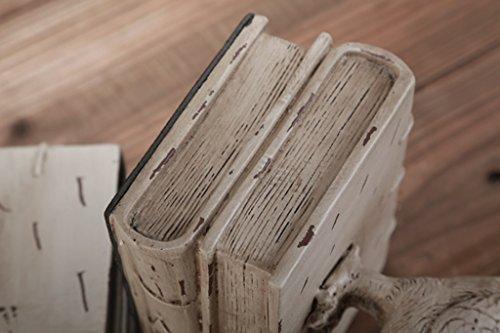 DFHHG® Libro de pie Retro Resina 12.5 * 10 * 14 Cm Decoración durable