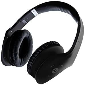 Sonixx X-Touch Wireless Bluetooth Headphones / Headset with Swipe Control, Mic & Remote for all Smartphones/ Tablets - 3 YEAR WARRANTY (Black)