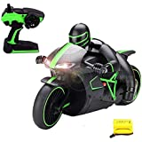 Mousepotato High Speed Sports Bike Rechargeable Motorcycle With 2.4 Ghz Remote Control & LED Headlights (Green)