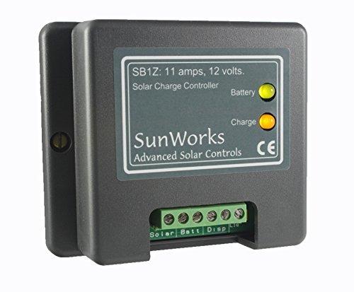 170 Watt-solar-panel (Solar Panel Laderegler Regler für Wohnmobile, Boote und alle 12V-Anwendungen. Sunworks SB1Z 11A, 170W. Intelligente Automatik PWM Solarladevorgang.)