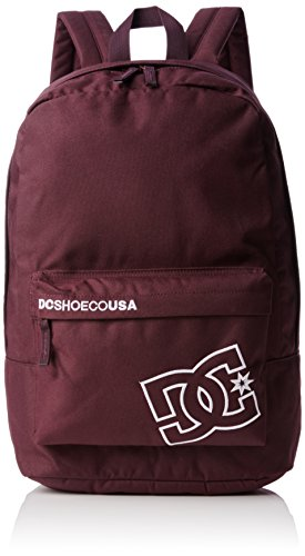 DC Shoes Bunker Solid - Mochila Tipo Casual, Color Rojo, 18.50 L