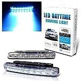EASY4BUY Car Daylight Day Time Daytime Running Light DRL 8 LED Super White Bright Light