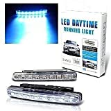 #8: EASY4BUY Car Daylight Day Time Daytime Running Light DRL 8 LED Super White Bright Light