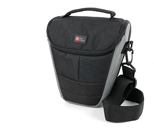 Weich gepolsterte Tasche der Marke DuraGadget, Schultergurt, Tragegriff, für Panasonic Lumix DMC-GX8, Fujifilm FinePix T500, Nikon Coolpix A10 / Coolpix S5300 und Panasonic Lumix DMC-TZ70EB-K Kamera