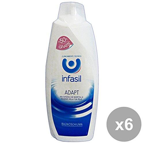 Set 6 Infasil bain Adapt 500 + 250 ml. Les savons et cosmétiques