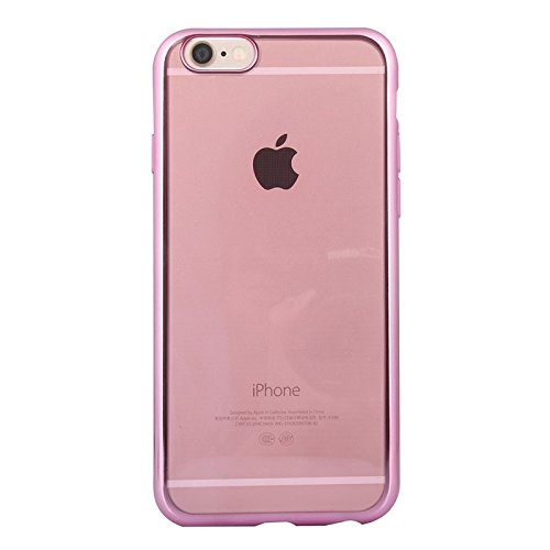 Phone case & Hülle Für iPhone 6 Plus / 6s Plus, Galvanisieren TPU Fall ( Color : Silver ) Pink