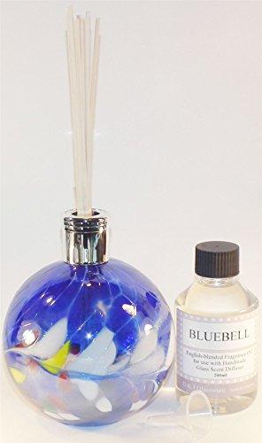 D & J Glaswaren Bluebell Glas Diffuser–Saphir Blau