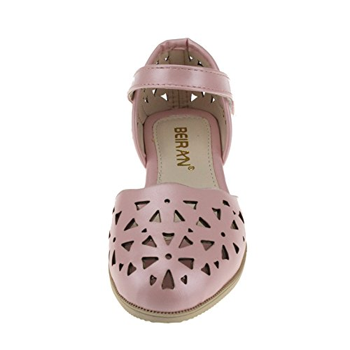 maxu Little Girl massif Hollow Out Sandales plat ballerine Rose