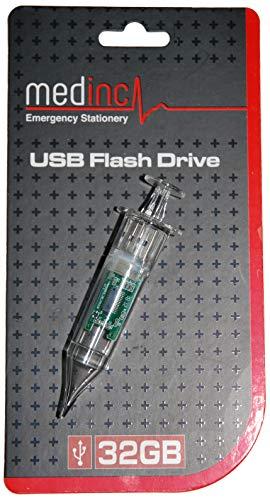 Medinc Spritzenförmiger USB Stick, 32 GB Speicher für Schwesternschüler oder Krankenschwester