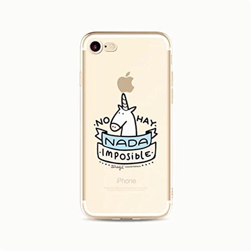 Coque Transparente en Gel Silicone pour iphone 7 (4.7) KSHOP TPU Etui Housse de Protection pour telephone Protable Shell Cover Anti-Rayures Anti-Scratch Coque iphone 7 avec Modif - Colorful Big Pineap C16