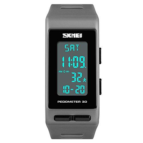 8f1740cffb0b FeiWen Unisex Digitales Deportivo Reloj de Pulsera Outdoor Militar LED  Electrónica Multifuncional Podómetro Calorías Plástico Bisel