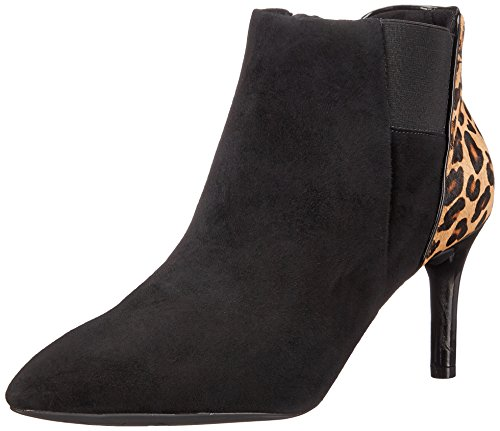 Rockport Total Motion Pointy Toe Layer Bootie 75mm Damen Kurzstiefel Black Kid/Leopard Hair