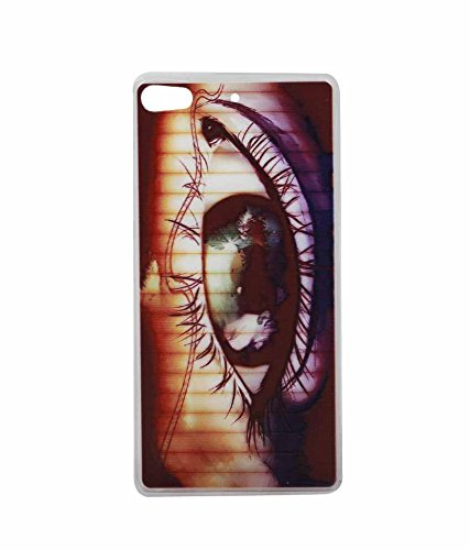 Exclusive Soft Silicon Back Case Cover For Gionee Elife S7 4G - Brown Eye Blink  available at amazon for Rs.179