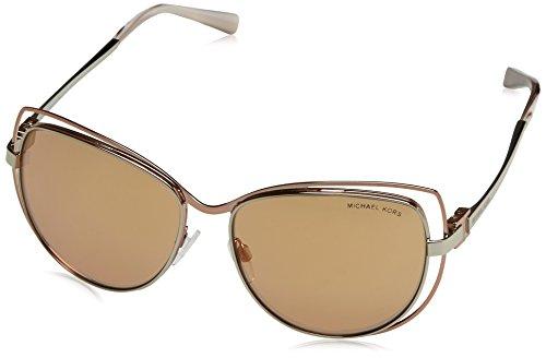 Michael Kors Damen Audrina I 1121R1 58 Sonnenbrille, Silver/Rose Gold Flash