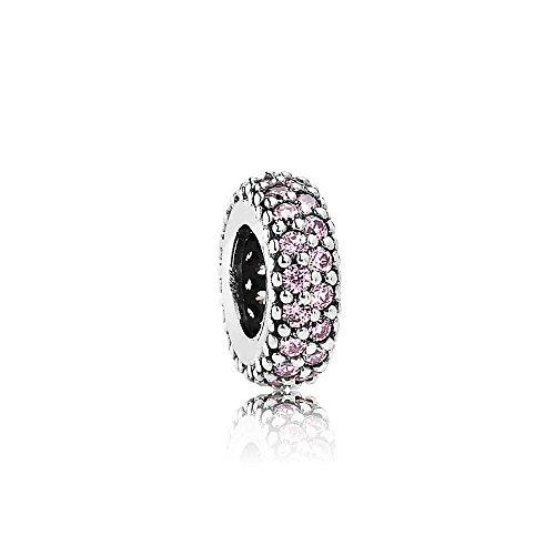 Pandora Moments rosafarbenes funkelndes Zwischenelement Sterling Silber 791359PCZ