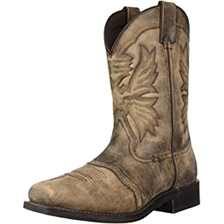 Adtec Men's 1554-Sbr Western Boot, Stonewashed Brown, 11 Wide US