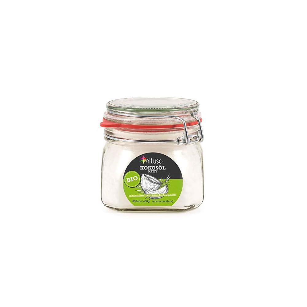 Mituso Bio Kokosl Nativ 1er Pack 1 X 500 Ml Im Bgelglas
