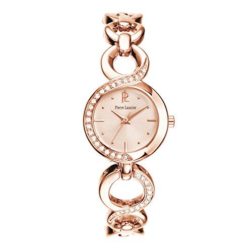 Pierre Lannier - 104J999 - Montre Femme - Quartz Analogique - Cadran Rose - Bracelet Métal Rose