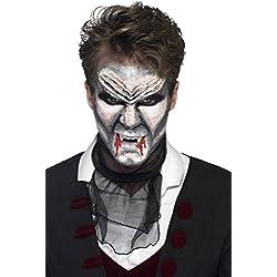 Smiffys Vampire - Kit de Maquillaje (4 Botes de Látex Líquido y 4 cepillos de Espuma), Multicolor