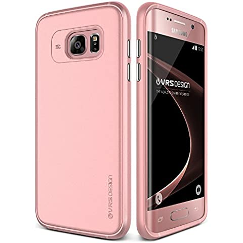 VRS Design, Funda Galaxy S7 Edge [Single Fit][Nieve Rosa] -[Caída Protección][Ajustado] - Para Samsung Galaxy S7 Edge