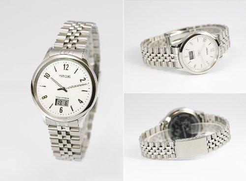 Elegante Herren Funkarmbanduhr mit Junghans-Uhrwerk, Gehäuse & Armband aus Edelstahl 964.4712.78