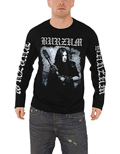 Burzum T Shirt Anthology 2018 Band Logo Nue offiziell Herren Schwarz Long Sleeve (Burzum-logo-shirt)