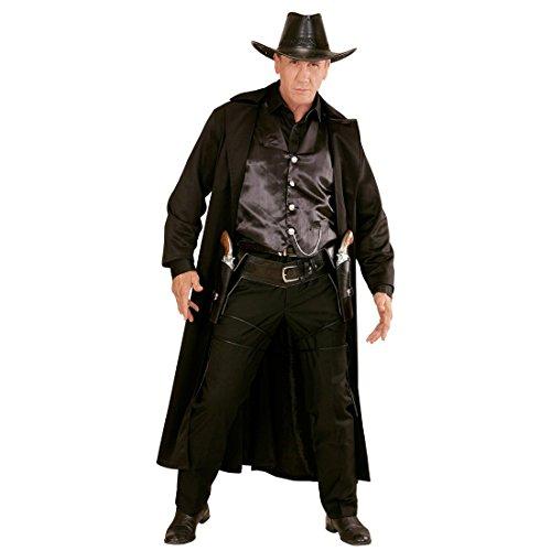 Schwarzer doppelter Pistolenhalfter mit Western Cowboygürtel Cowboy Gürtel Colt Sheriff Pistolen Holster Pistolenhalterung Waffengürtel Colttasche Pistolenholster Kostüm Zubehör (Pistole Holster Kostüme Zubehör)