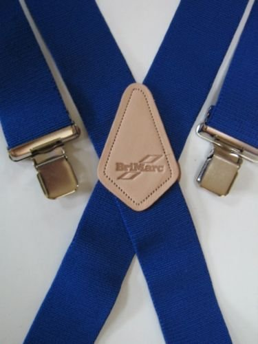 7c6d5021ff5b2 Brimarc Bretelles pour homme Design ultra résistant Motif bleu roi Largeur  50 mm