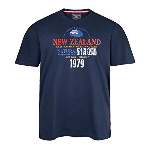 XXL Redfield T-Shirt nachtblau mit Schriftprint Blau