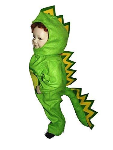 Drachen-Kostüm, F01 Gr. 80-86, für Klein-Kinder, Babies, Drache Kind Drachen-Kostüme für Fasching Karneval, Kleinkinder-Karnevalskostüme, Kinder-Faschingskostüme, Geburtstags-Geschenk Weihnachts-Geschenk