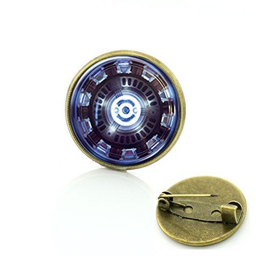Patch Nation Iron Man Reaktor Cosplay Runden Metall Pin Badge