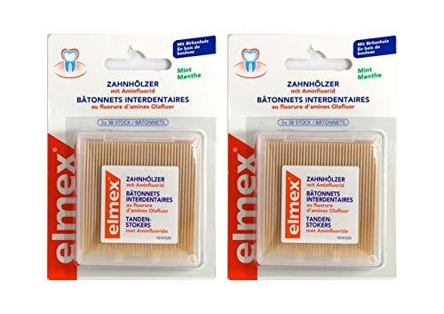 2x Elmex Zahnhoelzer 3X38St PZN: 5918464 Zahnstocher Aminfluorid 114 A d