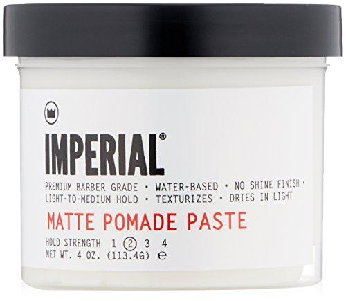 Imperial Barber Products Tapis Pomade Pâte 147 ml pour un fini mat naturel avec une tenue légère à moyenne
