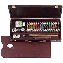 Rembrandt - Pintura al óleo - Caja de madera tradicional - 15 tubos de 15 ml + accesorios