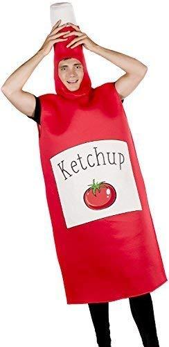 Herren Damen Rot Ketchup Sauce Gewürz Nahrung Lustig -