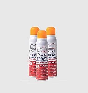 Spray Igienizzante Mani Adatto anche a Superfici formato da 150ml - Pacco da 3 - Selfcare Cura Personale